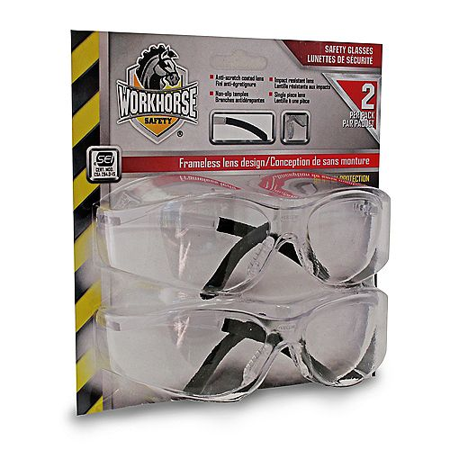 Safety Glasses Clear Lens Retail Pack