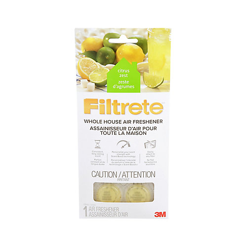 Filtrete Whole House Air Freshener WHAF-1-CZEF, Citrus Zest, 11.7 cm x 24.4 cm, 1/Pack