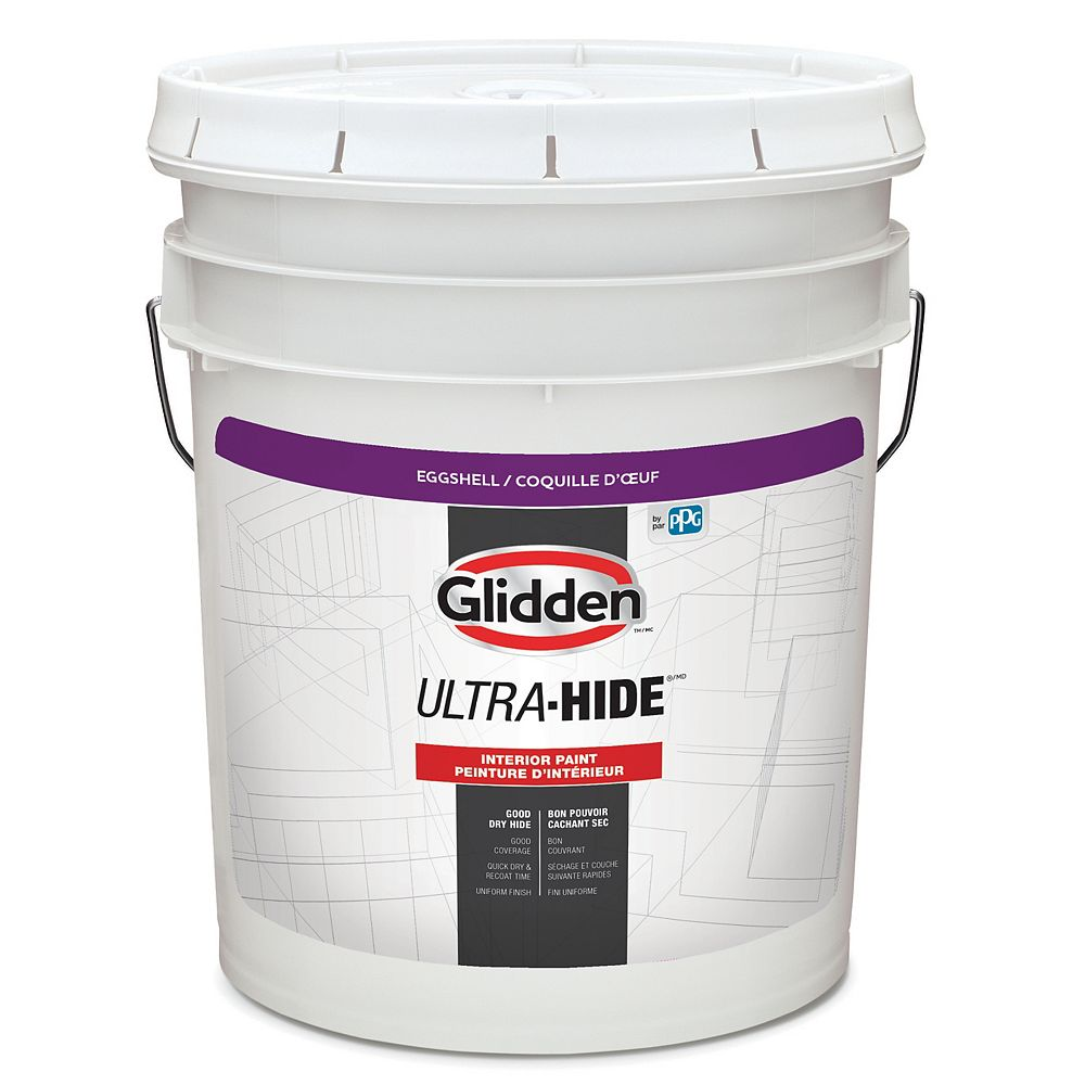 Glidden Ultra-Hide Interior Eggshell - White Base 18.3 L