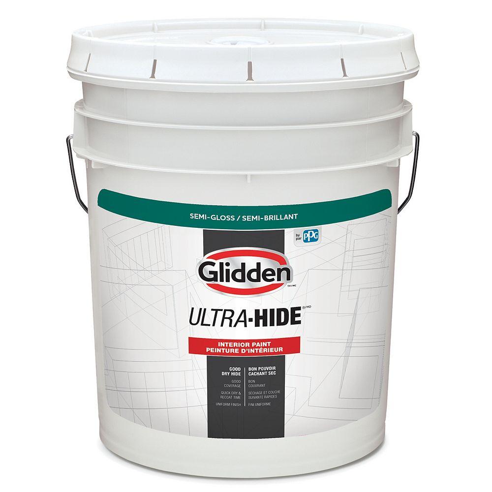 Glidden Ultra-Hide Peinture d'intérieur semi-brillant - Base blanche 18,3 L