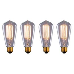 60W Vintage Filament ST45 Dimmable Light Bulb (4-Pack)