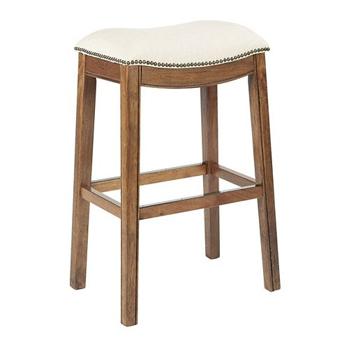 Austin 31-inch Bar Stool in White
