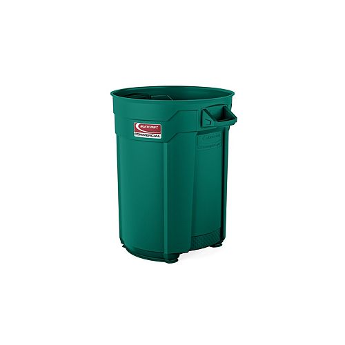 Poubelle vert foncé de 55 gallons