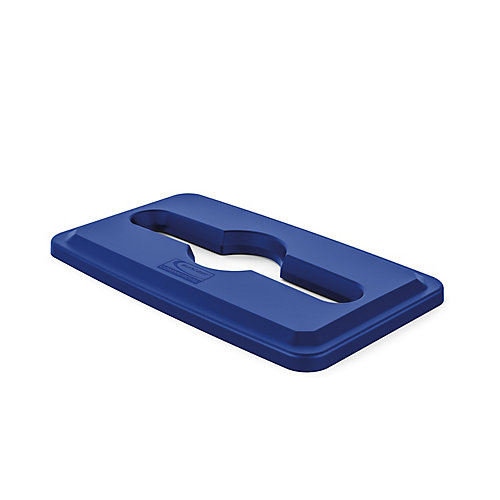 Resin Slim Blue Paper and Recycling Trash Can Lid