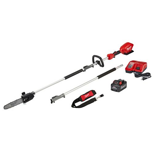 Milwaukee Tool M18 FUEL 18V Lithium-Ion Brushless Cordless 10 -inch Pole Saw Kit with Attachment Capability
