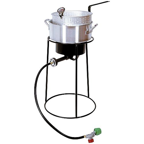 22-inch Tall Propane Fish Fryer Kit with Aluminum Fry Pan