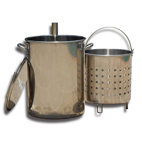 Stainless Steel Skewer Pot with Lid