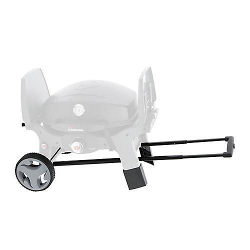 Chariot pour barbecue avec poignée et roues, 8po