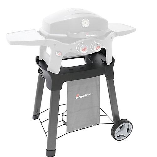 Chariot permanent pour barbecue avec roues, 27po