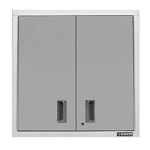 Premier Series 30-inch H x 30-inch W x 12-inch D Steel 2-Door Garage Wall Cabinet in White