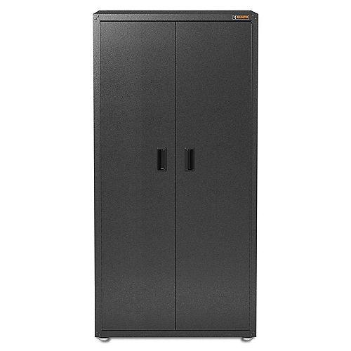 GearCloset 72-inch H x 36-inch W x 24-inch D Steel Freestanding Garage Cabinet in Hammered Granite