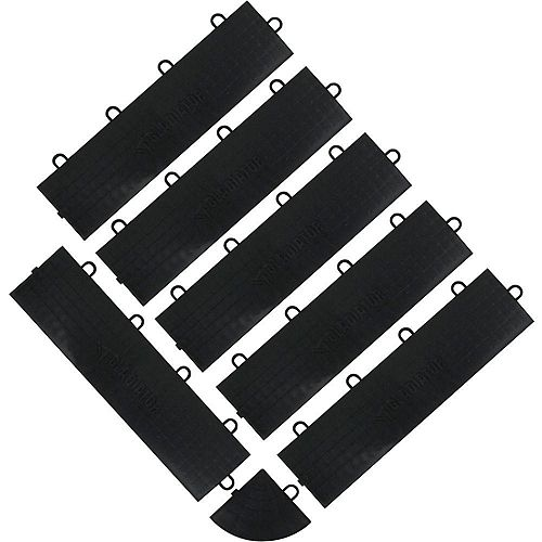 Black Floor Edge Trim - Female (6-Pack + 1 Corner)