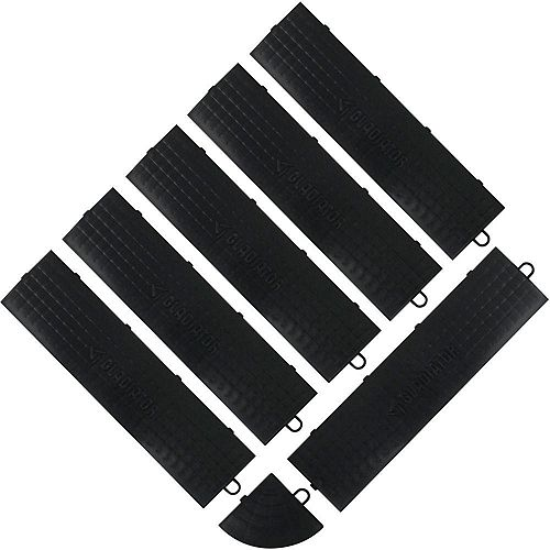 Black Floor Edge Trim - Male (6-Pack + 1 Corner)