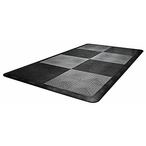 4 ft. W x 8 ft. L Black and Charcoal Polypropylene Garage Flooring (32 sq. ft.)