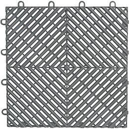Dalle de plancher de garage en polypropylène argenté 12 po 12 po (paquet de 4)