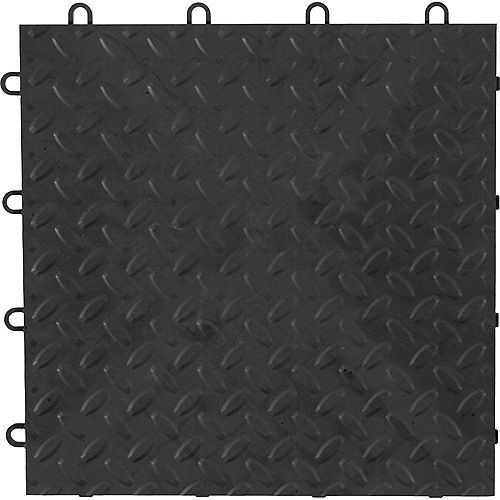 Charcoal Garage Floor Tile (4-Pack)
