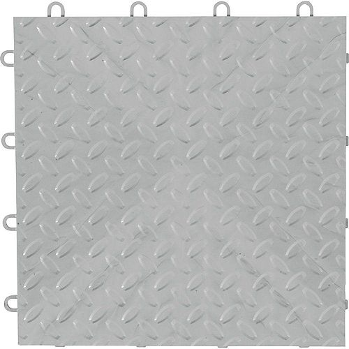 Silver Garage Floor Tile (4-Pack)
