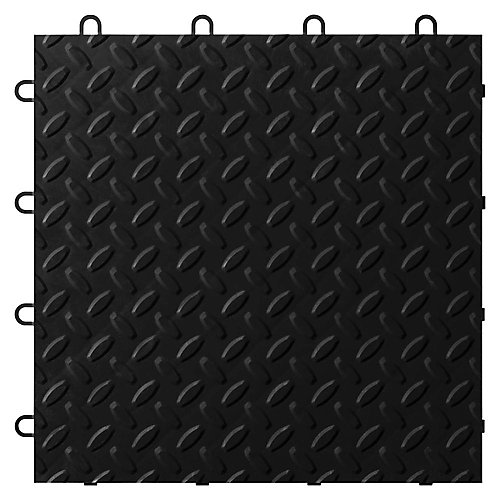 Black Garage Floor Tile (24-Pack)