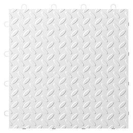Carreau de plancher de garage en polypropylène blanc de 12 po x 12 po (paquet de 24)