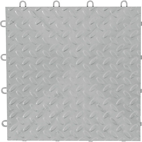 Silver Garage Floor Tile (48-Pack)