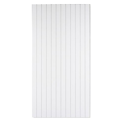 Ultra True Bead 48-inch W x 96-inch H Recycled Wood Wall Panel in Primed White