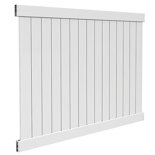 6X8 5.5 inch Privacy Panel White Dn