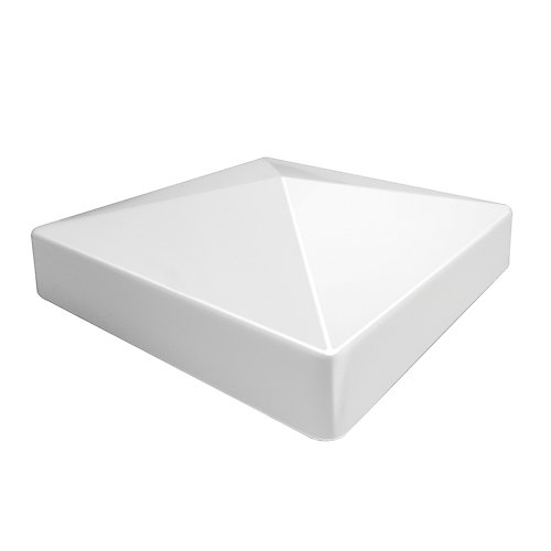 5 inchx5 inch Pyramid Post Top White