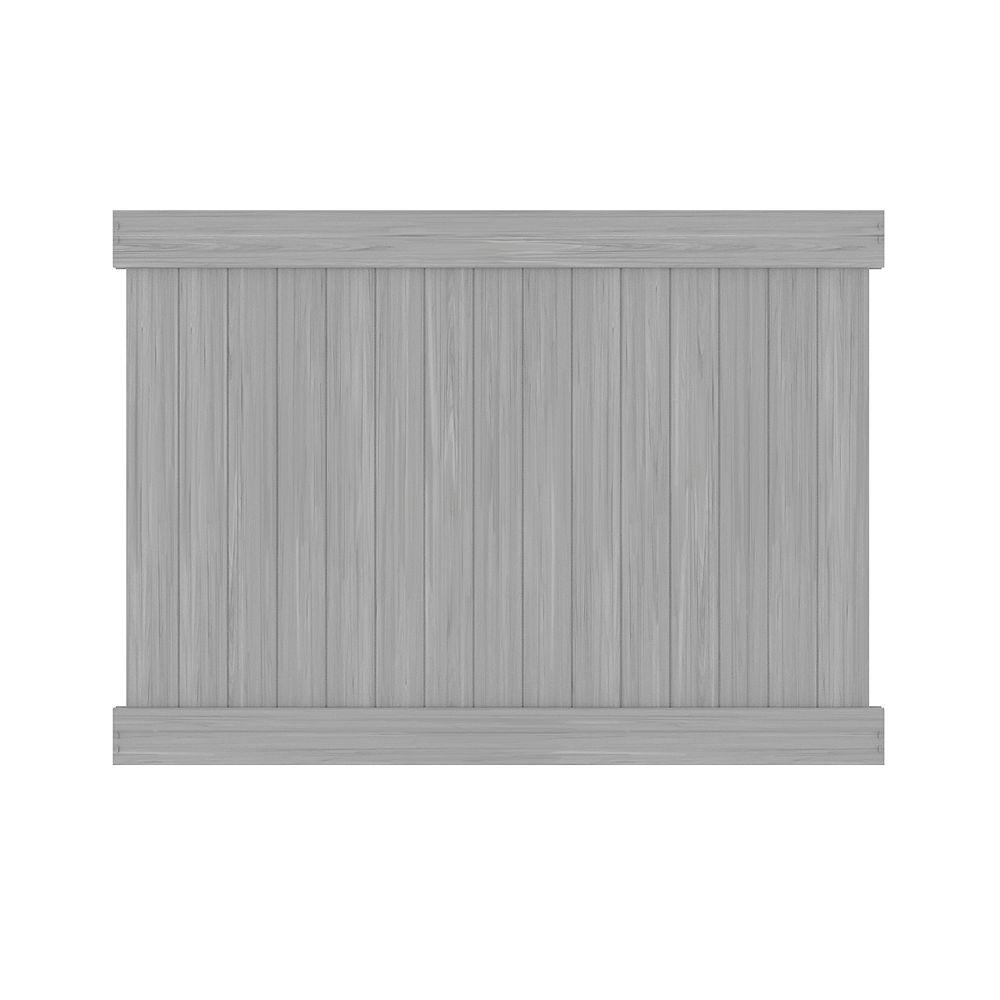 Barrette 6X8 5.5 inch Priv Panel Gray Wg Can