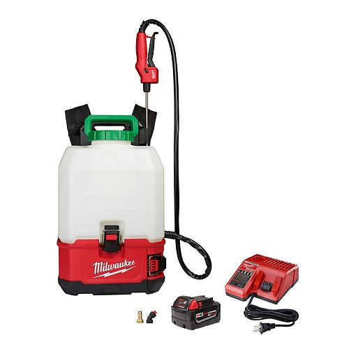 M18 18V 4 Gal. Lithium-Ion Cordless Switch Tank Backpack Pesticide Sprayer Kit w/ 3.0Ah Battery