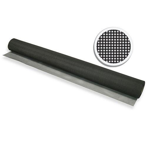 """Black Fiberglass Screen 48"""" X 100' (122 CM X 30.5 )"""
