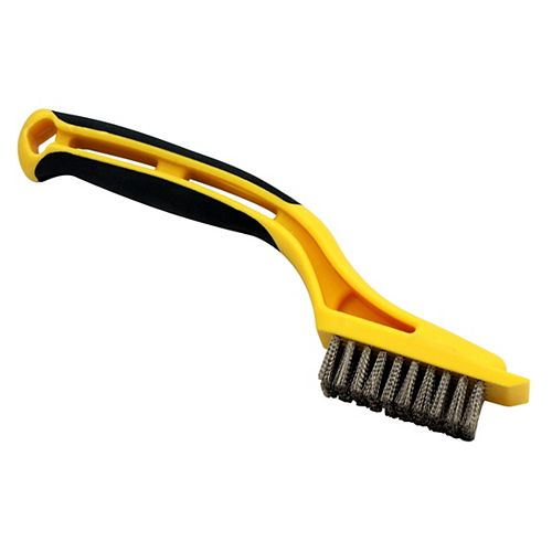 Mini Wire Brush 1-1/8 x 2-1/4, Stainless Steel, with Built In