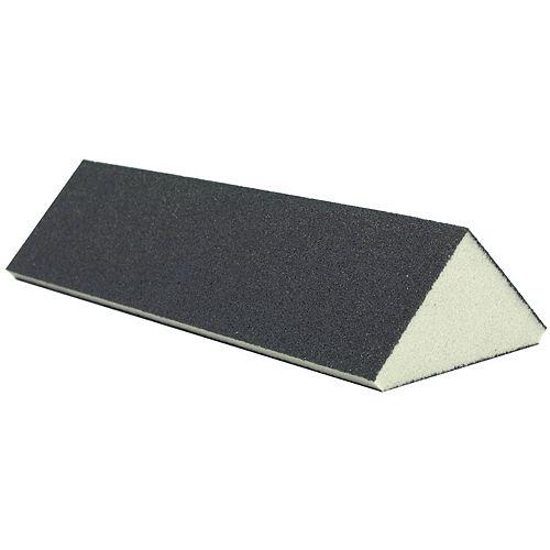 Éponge à sabler triangulaire pour coin, 64 mm, grain fin sur 3 surfaces