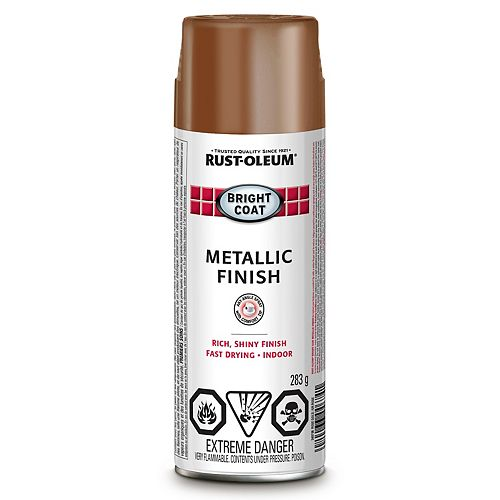 Rust-Oleum REVÊTEMENT BRILLANT MÉTAL FinITION OR ROSE 340G