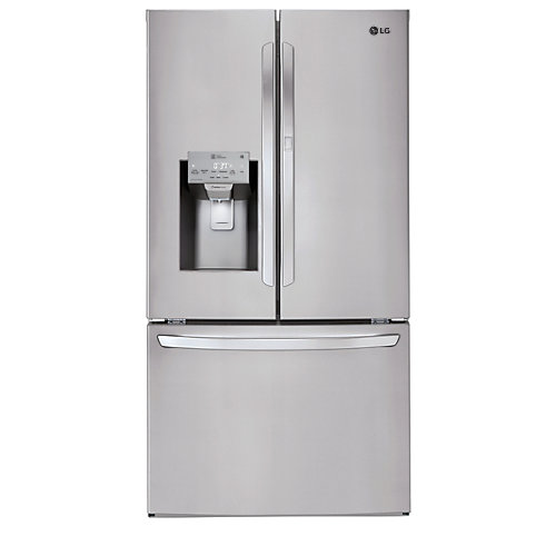 36-inch W 26 cu. ft.French Door Refrigerator in Stainless Steel, ENERGY STAR®
