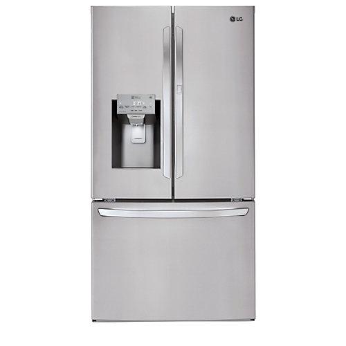 Réfrigérateur à porte française de 36 po W 26 pi3 en acier inoxydable, ENERGY STAR®