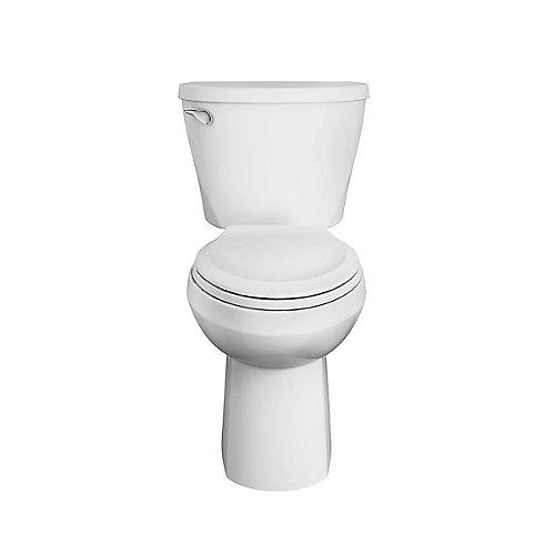 Toilette 2pièces Mainstream, devant allongé et chasse unique, hauteur confortable, 1,26LPC, blanc