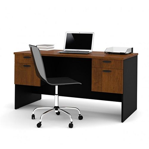 Hampton Executive desk in Tucany Brown & Black