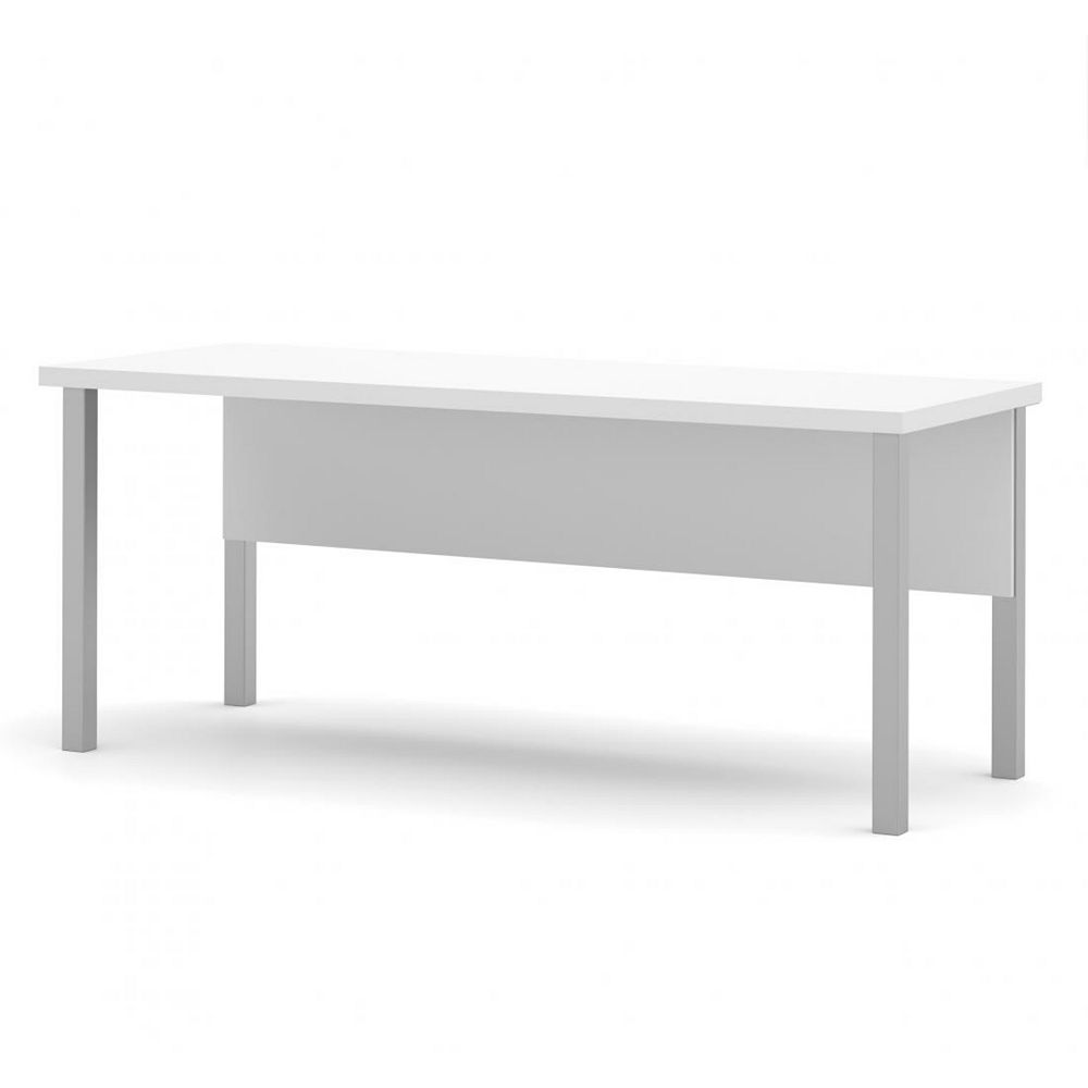 Bestar Pro-Linea Table with metal legs in White