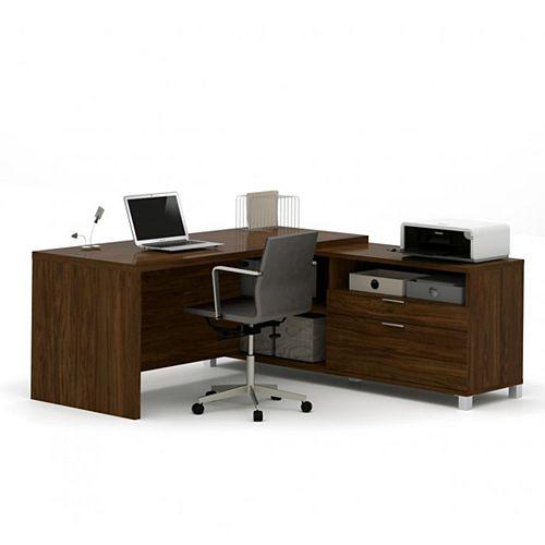 Pro-Linea L-Desk in Oak Barrel