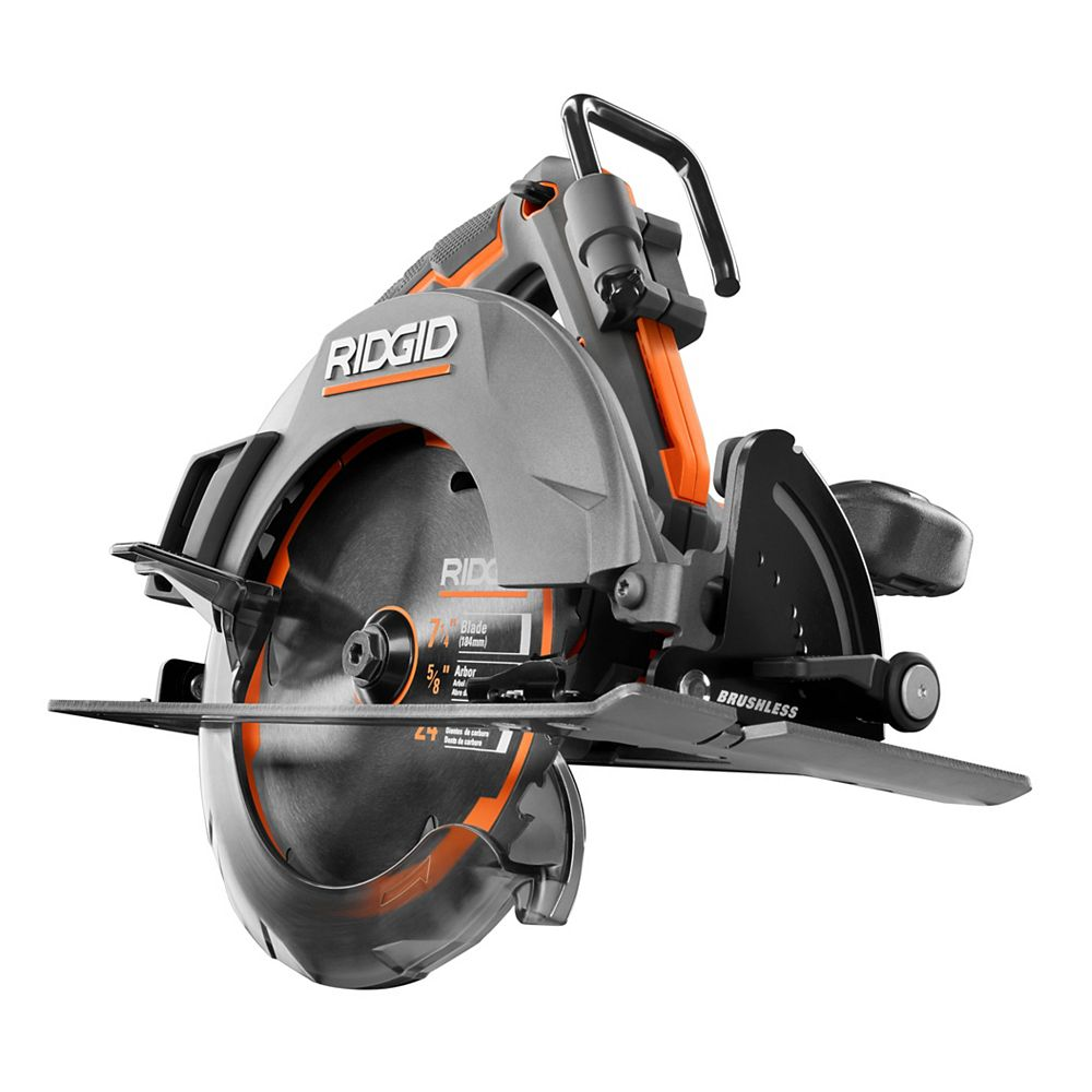 Ridgid 18v Octane Cordless Brushless 7 1 4 Inch Circular Saw Tool Only The Home Depot Canada