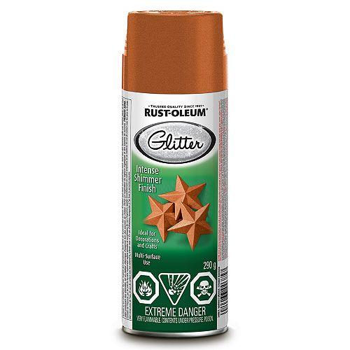 Rust-Oleum Rust-Oleum Specialty Glitter Paint In Harvest Orange, 290 G Aerosol