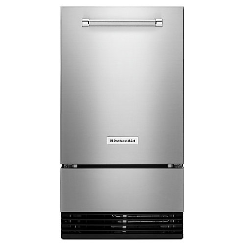18-inch W 35 lb. Outdoor Automatic Ice Maker in Stainless Steel
