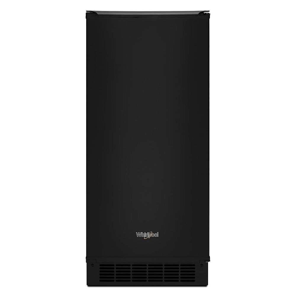 Whirlpool 15-inch W 25 lb. Automatic Ice Maker in Black