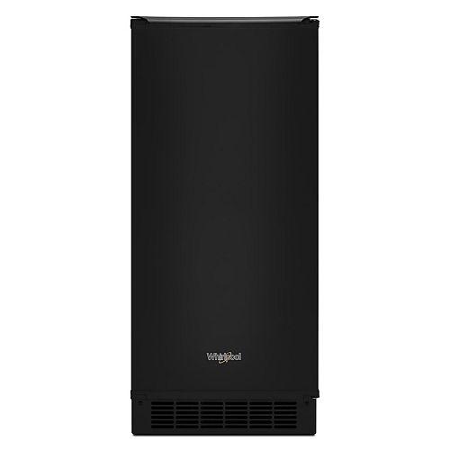 15-inch W 25 lb. Automatic Ice Maker in Black