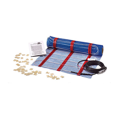 240 VAC SAM Electric Floor Warming Mat Self Adhesive: heated area 12-15 sq. ft.