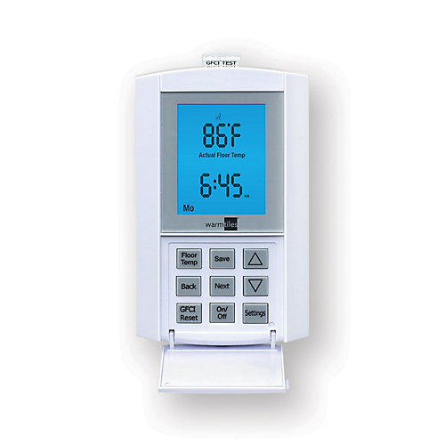 120V/240V, 15 A FG Non-programmable Thermostat - For Electric Floor Warming Systems