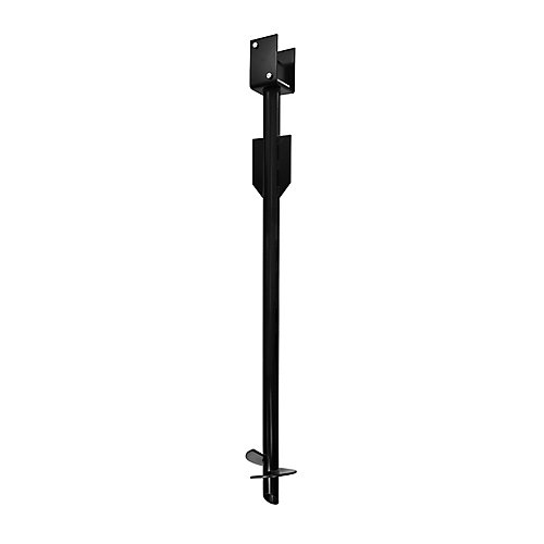 L anchor screw for fence black