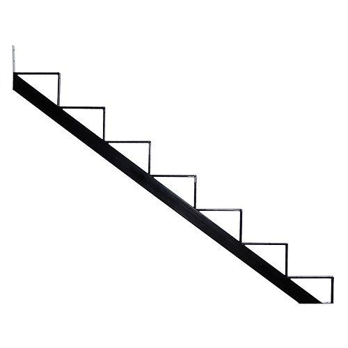 7-Steps Steel Stair Riser black