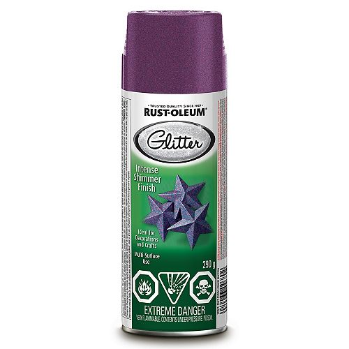 Glitter Paint in Multi Purple, 290 G Aerosol
