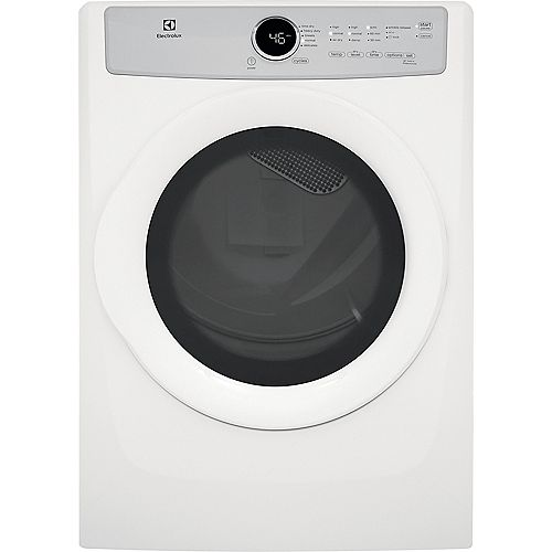 Electrolux 8.0 cu. ft. Front Load Electric Dryer in White, ENERGY STAR®